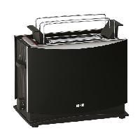 Grille-pain - Toaster HT450 BK Grille-pain + Rechauffe-viennoiserie - Noir - 950W