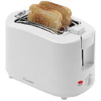 Grille-pain - Toaster Toasteur - 750W - avec chauffe croissant - en blanc - Bestron