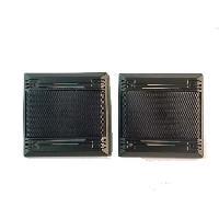 Grilles HP & Subs 2 Grille haut-parleurs universelles D130 Carrees noires Generique