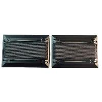 Grilles HP & Subs 2 Grilles haut-parleur univeselle rectangulaire pour hp 9x15