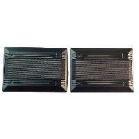 Grilles HP & Subs 2 Grilles haut-parleur univeselle rectangulaire pour hp 9x15 - ADNAuto