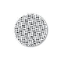 Grilles HP & Subs 2x Grilles Haut-Parleur Universelle D100mm Rondes blanches - ADNAuto