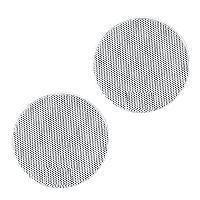 Grilles HP & Subs 2x Grilles Haut-Parleur Universelle D130mm Rondes blanches - ADNAuto
