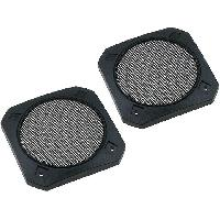 Grilles HP & Subs Grilles de haut-parleur 100mm Metal Carre - ADNAuto