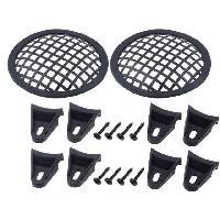 Grilles HP & Subs Grilles de haut-parleur 10cm Noir Perforation en carre