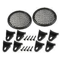 Grilles HP & Subs Grilles de haut-parleur 10cm Noir Perforation en elipse - ADNAuto