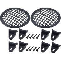 Grilles HP & Subs Grilles de haut-parleur 12.5cm Noir Perforation en carre ADNAuto