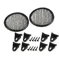Grilles HP & Subs Grilles de haut-parleur 12.5cm Noir Perforation en elipse