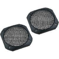 Grilles HP & Subs Grilles de haut-parleur 130mm Metal Carre - ADNAuto