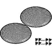 Grilles HP & Subs Grilles de haut-parleur 18p Noir Perforation en carre