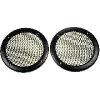 Grilles HP & Subs Grilles de haut-parleur 200mm Noir Rond - ADNAuto