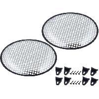 Grilles HP & Subs Grilles de haut-parleur 25cm Gris Perforation en carre