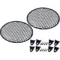 Grilles HP & Subs Grilles de haut-parleur 25cm Noir Perforation en carre - ADNAuto