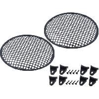 Grilles HP & Subs Grilles de haut-parleur 25cm Noir Perforation en carre ADNAuto