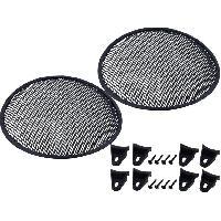 Grilles HP & Subs Grilles de haut-parleur 25cm Noir Perforation en elipse