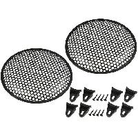 Grilles HP & Subs Grilles de haut-parleur 25cm Noir Perforation en rond