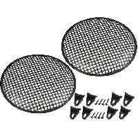 Grilles HP & Subs Grilles de haut-parleur 30cm Noir Perforation en carre