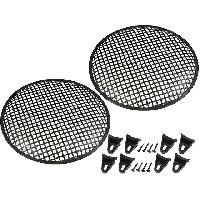 Grilles HP & Subs Grilles de haut-parleur 30cm Noir Perforation en carre - ADNAuto