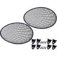 Grilles HP & Subs Grilles de haut-parleur 30cm Noir Perforation en elipse ADNAuto