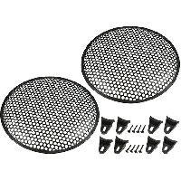 Grilles HP & Subs Grilles de haut-parleur 30cm Noir Perforation en rond