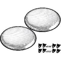 Grilles HP & Subs Grilles de haut-parleur 37.5cm Gris Perforation en carre