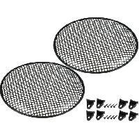Grilles HP & Subs Grilles de haut-parleur 37.5cm Noir Perforation en carre ADNAuto