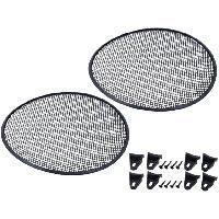 Grilles HP & Subs Grilles de haut-parleur 37.5cm Noir Perforation en elipse - ADNAuto