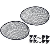 Grilles HP & Subs Grilles de haut-parleur 37.5cm Noir Perforation en elipse ADNAuto