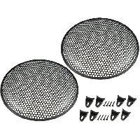 Grilles HP & Subs Grilles de haut-parleur 37.5cm Noir Perforation en rond