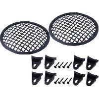 Grilles HP & Subs Grilles de haut-parleur 6.5p Noir Perforation en carre