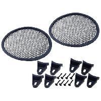 Grilles HP & Subs Grilles de haut-parleur 6.5p Noir Perforation en elipse