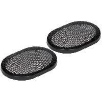 Grilles HP & Subs Grilles de haut-parleur 6x9p Noir Elipse - ADNAuto