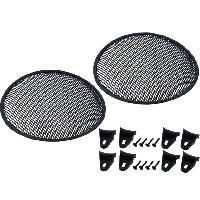 Grilles HP & Subs Grilles de haut-parleur 8p Noir Perforation en elipse