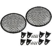Grilles HP & Subs Grilles de haut-parleur 8p Noir Perforation en rond