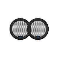Grilles HP & Subs KTE-S50G - 2 Grilles pour haut-parleurs S50 Serie S 13.5cm Alpine