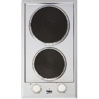 Gros Appareils De Cuisson BEKO - HDCE32200X - Domino de cuisson électrique - 30 cm - 6 niveaux de puissance - 2500 W - Inox