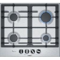 Gros Appareils De Cuisson BOSCH - PCP6A5B90 - Table de cuisson a gaz  - 4 zone - 7500W - 60 cm - Acier Inox