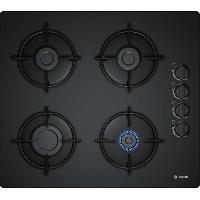 Gros Appareils De Cuisson BOSCH POP6B6B10 Table de cuisson gaz - 4 foyers - 7400W - L56 x P48cm - Revetement verre trempé - Noir