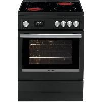 Gros Appareils De Cuisson BRANDT BCV6650A-Cuisiniere table de cuisson vitrocéramique-4 zones-Four électrique-Pyrolyse-56 L-A-L 60 x H 85 cm-Noir
