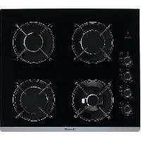 Gros Appareils De Cuisson BRANDT BPG6413B Plaque de cuisson gaz - 4 foyers - L 51 x P 58 cm - Revetement verre - Noir