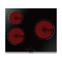 Gros Appareils De Cuisson BRANDT BPV6320 Plaque de cuisson vitrocéramique - 3 zones - 5300W - L60cm - Revetement verre - Noir