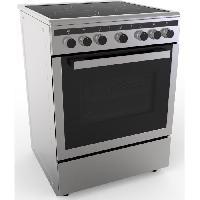 Gros Appareils De Cuisson CECICM604ZI-Cuisiniere table induction-4 zones-Four electrique-Catalyse-65 L-A-L 60 x H 85 cm-Silver