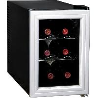 Gros Appareils Froid CAVISS- SP16CFMS - Cave de chambrage - 6 bouteilles - Thermostat - Porte verre + contour - Systeme anti vibration - Eclairage