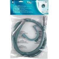 Gros Appareils Lavage-sechage Wpro TVS154 - Tuyau de vidange droit / droit 1.5 m - livré avec crosse Whirlpool