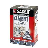 Gros ?uvre (poudres Ragreage - Ciment - Beton - Mortier - Platre) SADER Boite Ciment - Blanc - 1kg
