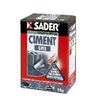 Gros ?uvre (poudres Ragreage - Ciment - Beton - Mortier - Platre) SADER Boite Ciment - Gris - 1kg