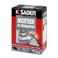 Gros ?uvre (poudres Ragreage - Ciment - Beton - Mortier - Platre) SADER Boîte Mortier de réparation - 1kg