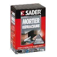Gros ?uvre (poudres Ragreage - Ciment - Beton - Mortier - Platre) SADER Boîte Mortier réfractaire - 1kg