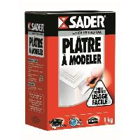 Gros ?uvre (poudres Ragreage - Ciment - Beton - Mortier - Platre) SADER Boîte Plâtre a modeler Poudre - 1kg