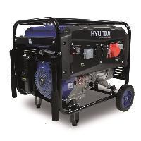Groupe Electrogene HYUNDAI Groupe electrogene a essence de chantier HG5500 - 5000 W a 5500 W - Systeme AVR - Bleu et noir